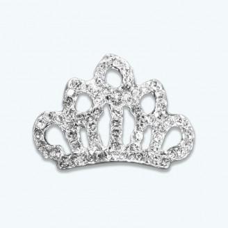 Crown Rhinestone Buckle Slider-Pack of 12