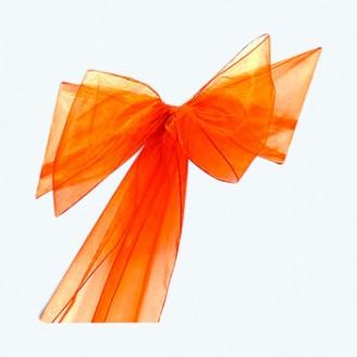 Organza Chair Sash Orange-Pack of 6