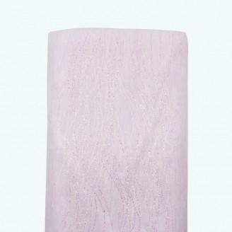 "Glitter Striped Organza Bolt   58"" x 10y   White"