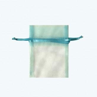 "Organza Pouch Aqua 3""x4""-Pack of 12"
