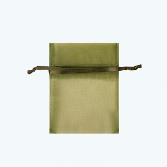 "Organza Pouch Sage-Pack of 12 | 3""x4"", 4""x5"", 5""x7"", 6""x9"", 6""x14"""