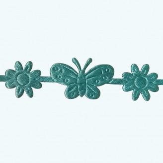 Butterfly & Flower Ribbon | Aqua