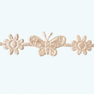 Butterfly & Flower Ribbon | Ivory