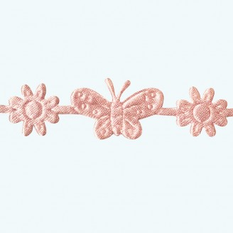 Butterfly & Flower Ribbon | Pink