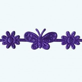 Butterfly & Flower Ribbon | Purple