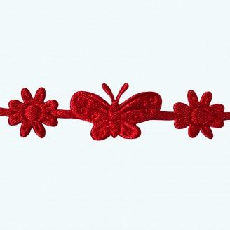 Butterfly & Flower Ribbon | Red