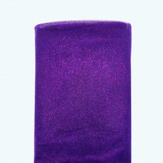 "Glitter Tulle Bolt | 54"" x 10y | Purple"